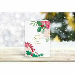 Pack of 10 'Sending Love' Christmas Cards