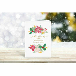 Pack of 10 \'Spending It Apart, Together In Heart\' Christmas Cards
