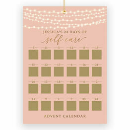 Personalised Self Care Scratch Off Advent Calendar