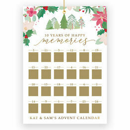 Personalised Happy Memories Scratch Off Advent Calendar
