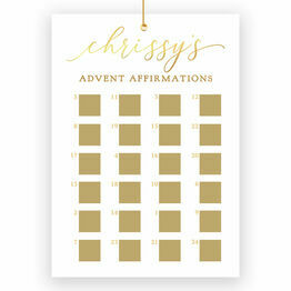 Personalised Gold Foil Scratch Off Advent Calendar