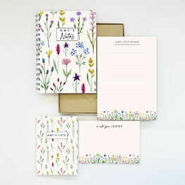Personalised Eco Stationery Gift Set - 'Wild Flowers'