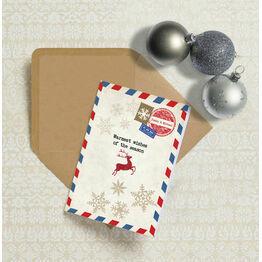 Vintage Airmail Personalised Christmas Cards