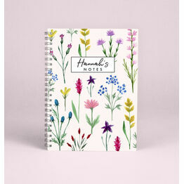 Personalised Wild Flowers A5 Notebook