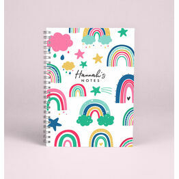 Personalised Rainbows A5 Notebook