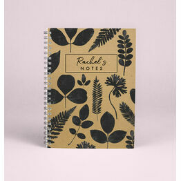 Personalised \'New Leaf\' A5 Notebook