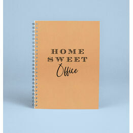 \'Home Sweet Office\' Work From Home Notebook