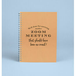 \'Surviving A Zoom Meeting\' Work From Home Notebook