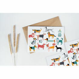 Pack of 10 Illustrated Dogs Note Cards