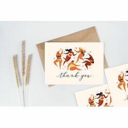 Pack of 10 Illustrated Women Thank You Note Cards