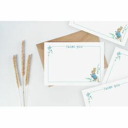 Pack of 10 Peter Rabbit Beatrix Potter Blue Thank You Note Cards
