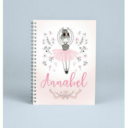 Personalised Ballerina Notebook