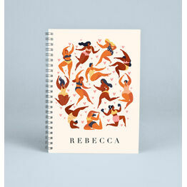 Personalised Illustrated Women Notebook