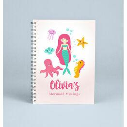 Personalised Mermaid Notebook