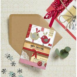 Rustic 'Love Birds' Personalised Christmas Cards