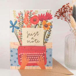 'Just A Note' Recycled Seeded Paper Greetings Card