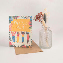 'Thank You' Floral Recycled Seeded Paper Greetings Card