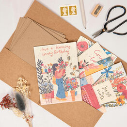 Set Of Five Seeded Paper Assorted Occasion Cards
