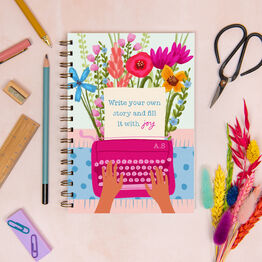 'Write Your Own Story' Floral Personalised Luxury Notebook