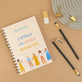 'Empower The Women Around You' Personalised Luxury Notebook