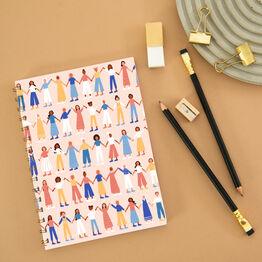 Women Supporting Women Lined Notebook