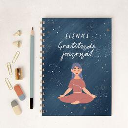 Peaceful Night Personalised Gratitude Wellness Journal