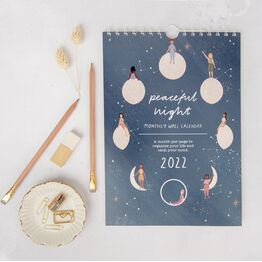 Moon And Stars Celestial Personalised 2022 A4 Calendar