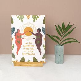 Sunshine Mixed With Hurricane Strong Women Art Print