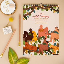 A4 Wild Women Personalised 2022 Monthly Calendar