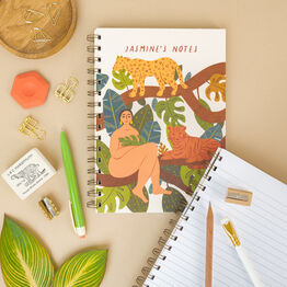 Wild Woman In Jungle Personalised Notebook