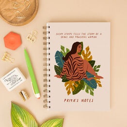 'Every Stripe…' Strong Wild Woman Personalised Notebook