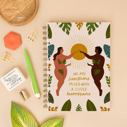 Sunshine Mixed With Hurricane A5 Lined Notebook