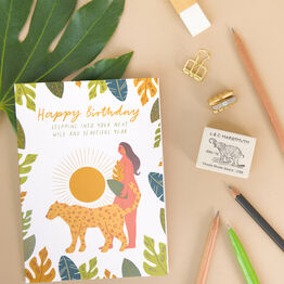 Wild Woman Empowering 'Happy Birthday' Card