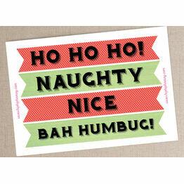 Christmas Holiday Themed Printable Banner Photo Booth Props