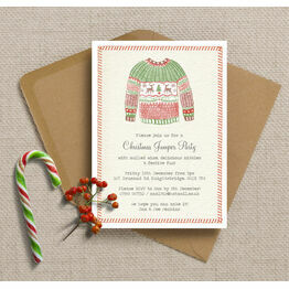 Personalised Christmas Jumper Party Invitations