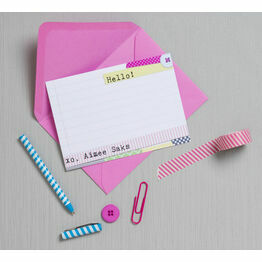 Personalised 'Washi Tape' Thank You Cards