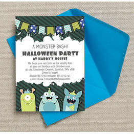 Personalised Monster Bash Halloween Party Invitations