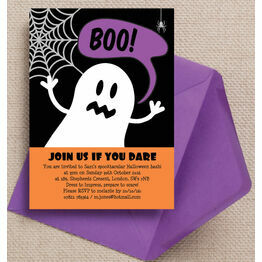 Halloween Ghost Personalised Party Invitations