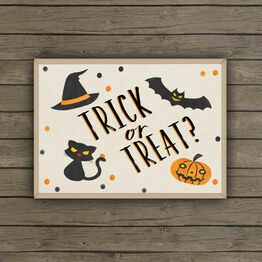 Printable Halloween Trick Or Treat Sign / Poster