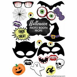 Printable DIY Halloween Photo Booth Props