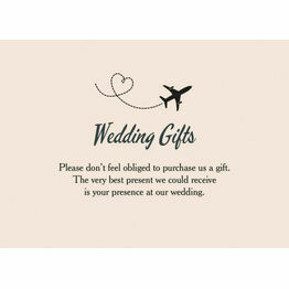 Retro Palm Trees Wedding Gift Card