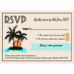 Retro Palm Trees RSVP