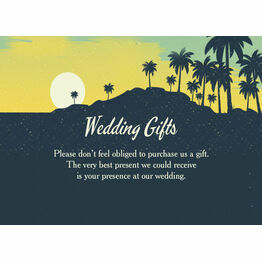 Tropical Beach Sunset Wedding Gift Card