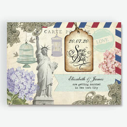Vintage New York Postcard Save the Date