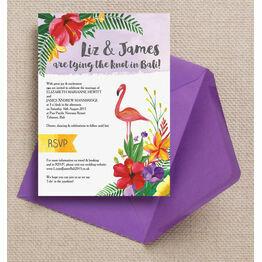 Tropical Flamingo Wedding Invitation