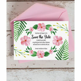 Tropical Flower Save the Date