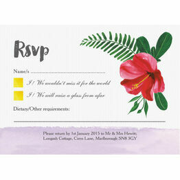 Tropical Hibiscus RSVP