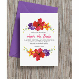 Tropical Paradise Save the Date