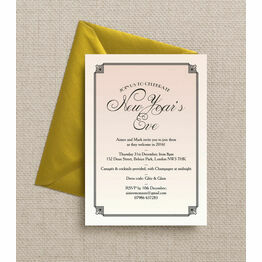 Blush Pink Art Deco New Years Eve Party Invitation