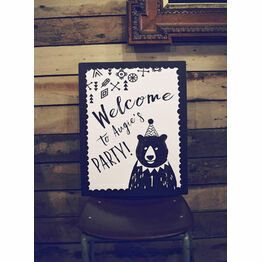 Grizzly Bear Welcome Party Sign
